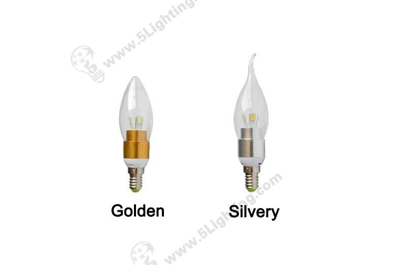 3W Led Candelabra Bulbs E12-1