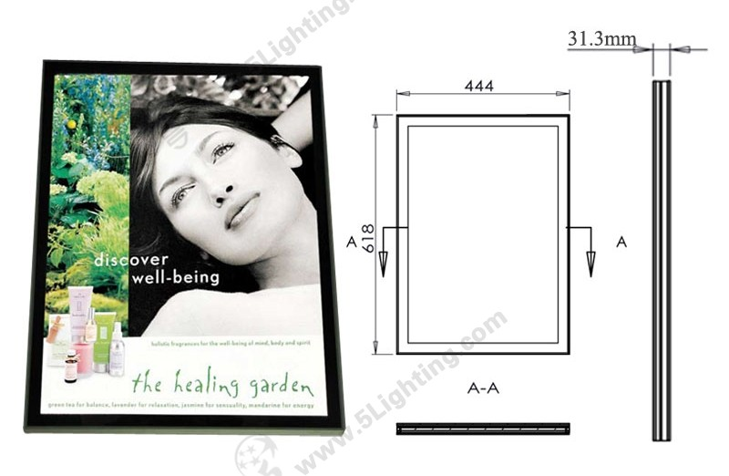 Super Slim Light Boxes Double Sides Magnetic Type - 1