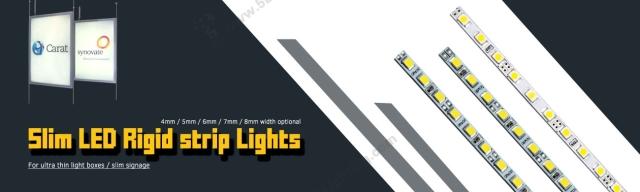 light box led rigid strips 4mm 12v smd 2835 for lighting boxes