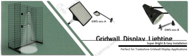 Charming Gridwall Display Lighting Banner