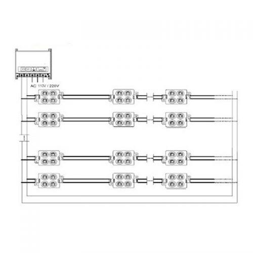 SMD 5730 LED Module 4pcs installation