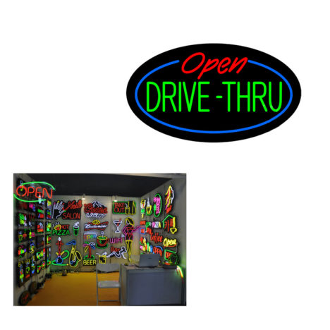 custom led neon open signs, oval led neon open signage, tailor led neon open sign