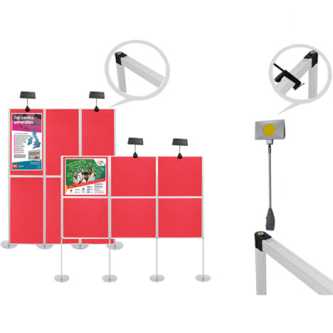 panel display board lights 30 W,display lights for folding panels 30 watts, 30w exhibition lights for panel display