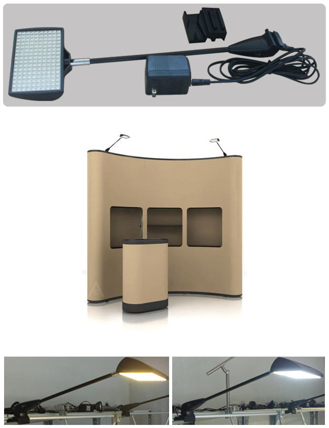 led pop up stand display lights, model lxs-160-002, 12 watts only