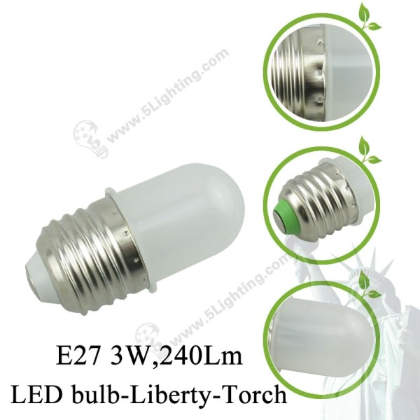 Globe-LED-Light-Bulbs-Liberty-Torch-E27-3W-Details