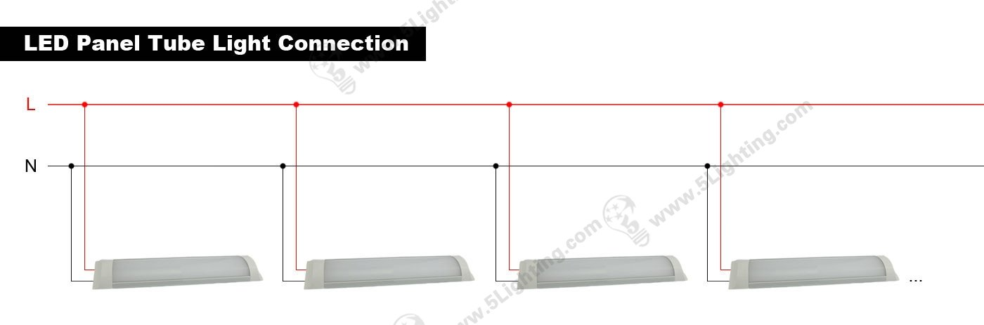 LED Panel Tube connection