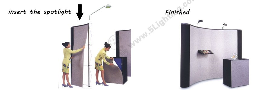 30W Super Bright LED Pop-up Display Lighting: LXCOB-B