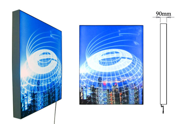 fabric light boxes single sided