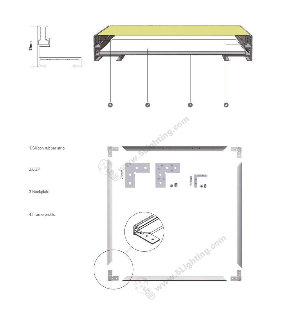 backlit fabric light box display