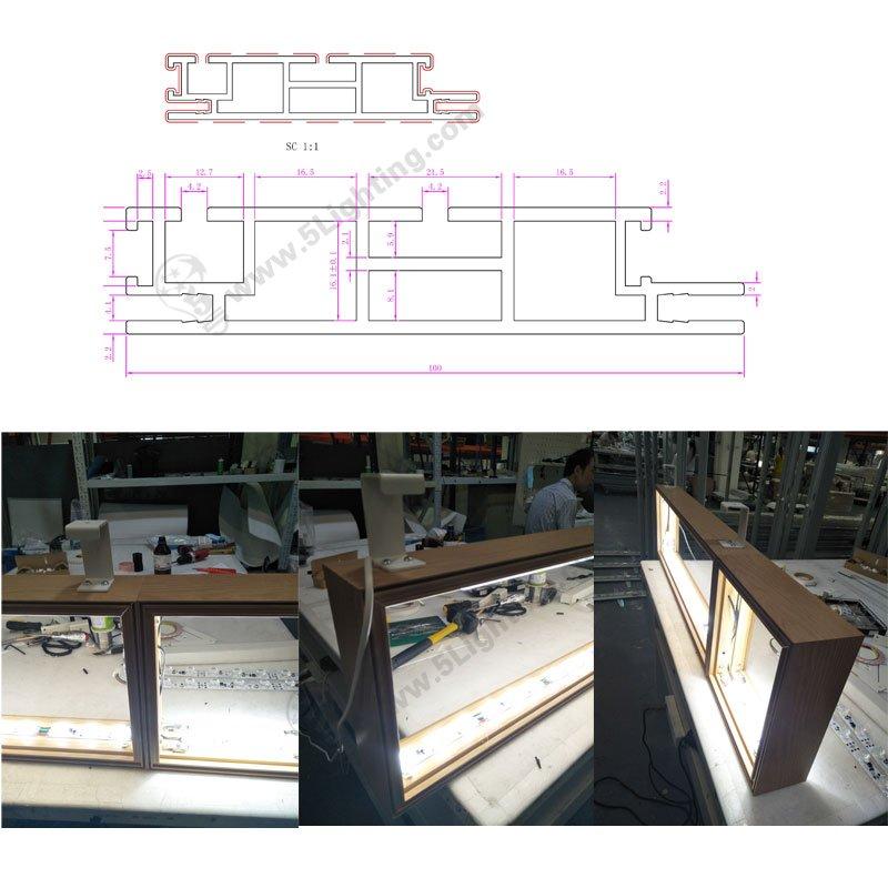 large scale led light box display