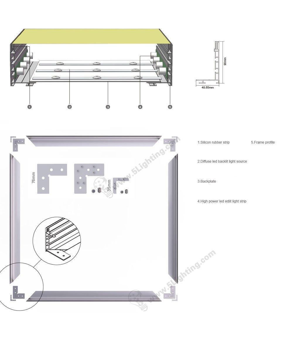 tension fabric light box frame