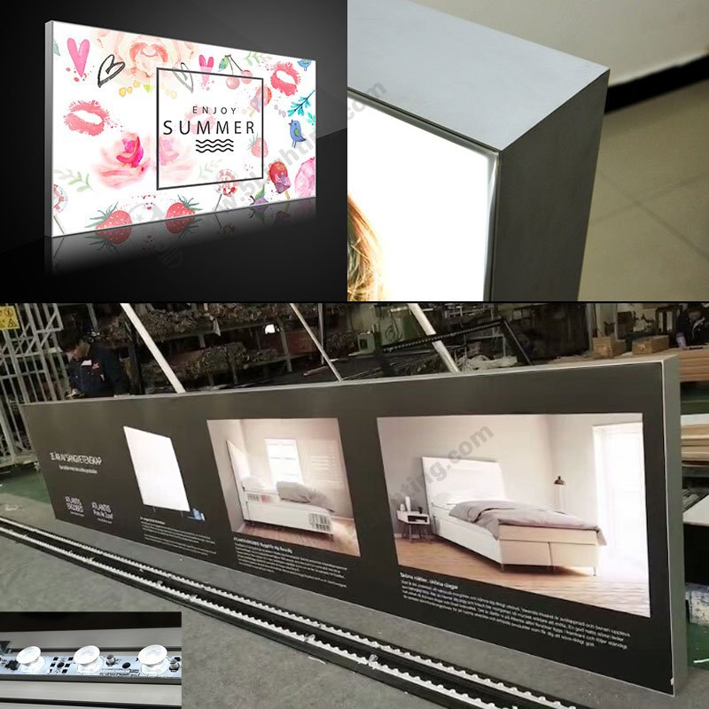 led fabric light box display, double sided