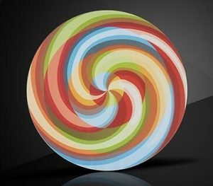 round shape led light box display
