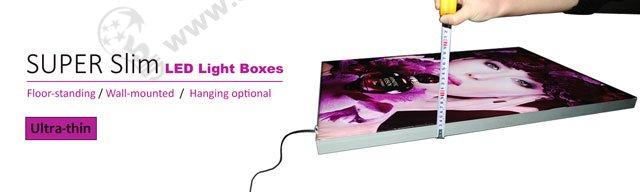 ultra thin fabric light box display