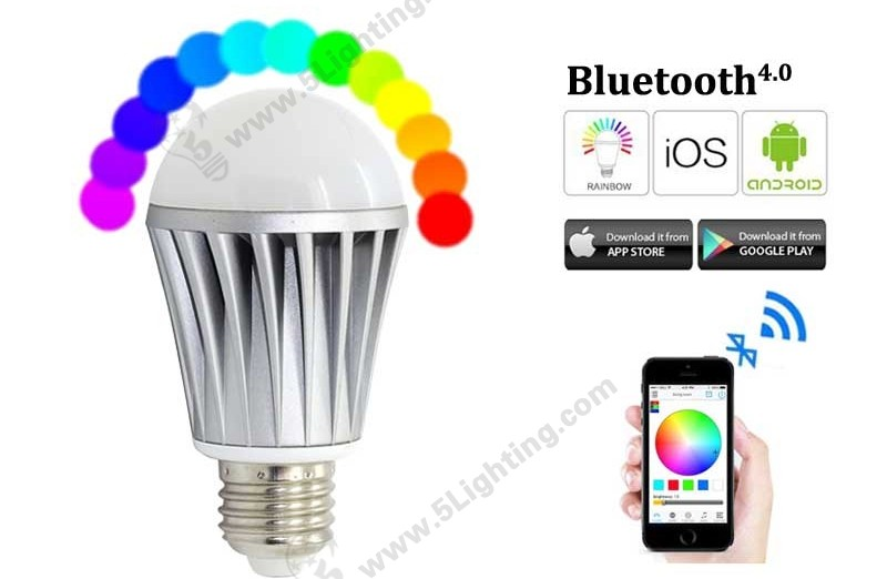 Bluetooth Smart Light Bulbs RGBW-7W-A-1