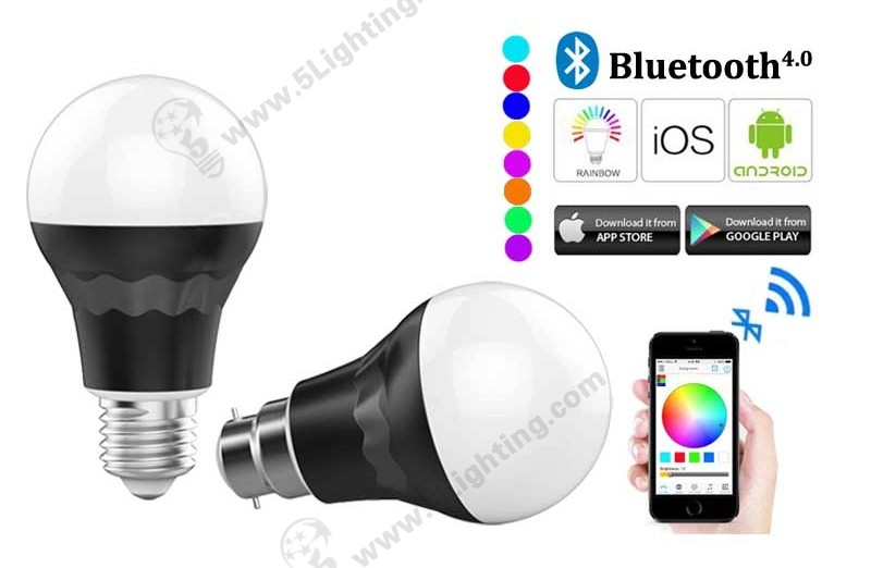 Bluetooth Smart Light Bulbs RGBW - 7W - B -1