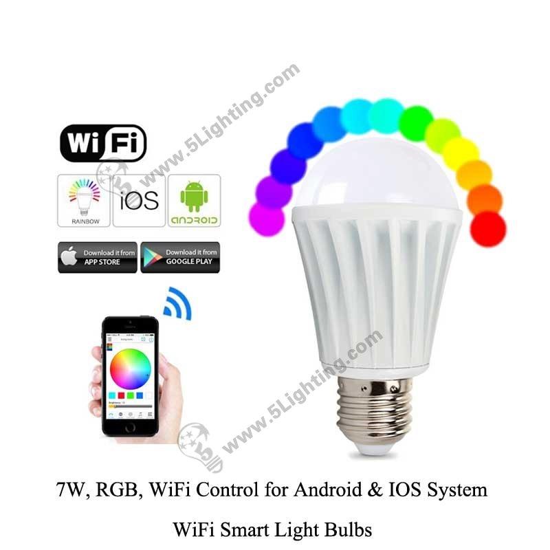 wifi smart light bulbs rgbw 7w a photos. Black Bedroom Furniture Sets. Home Design Ideas