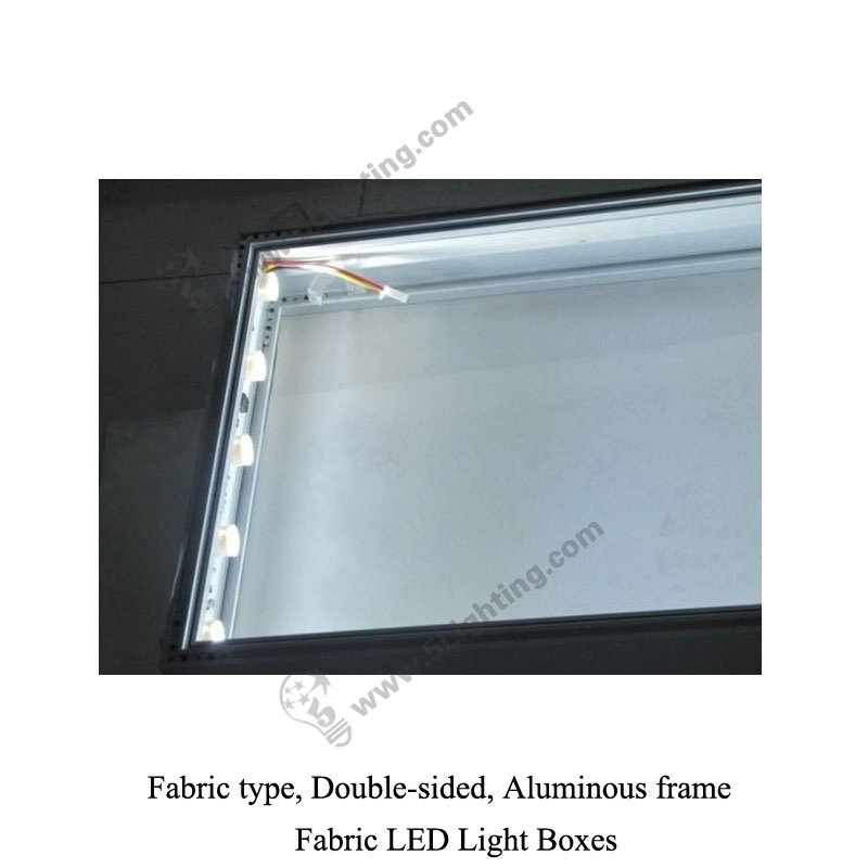 Fabric Light Box Display Double Sided Large Size