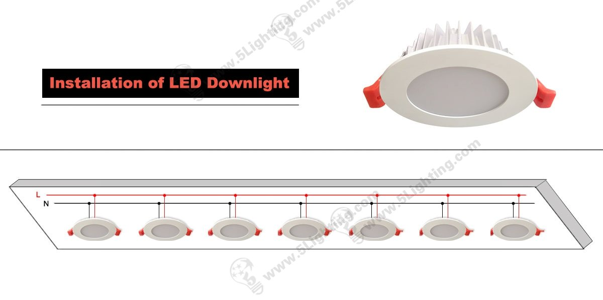 Installation of LED downlight