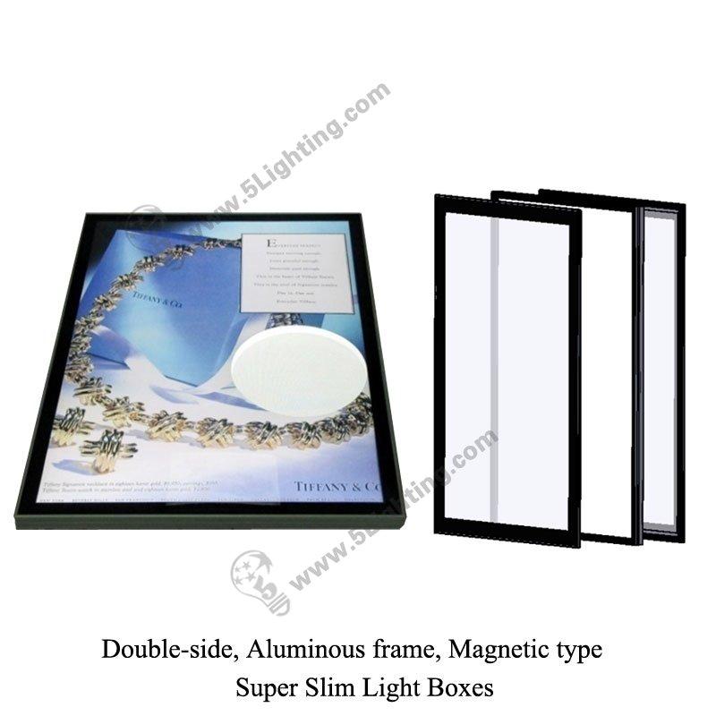 super slim light box magnetic type  double side  ultra slim light box aluminous frame