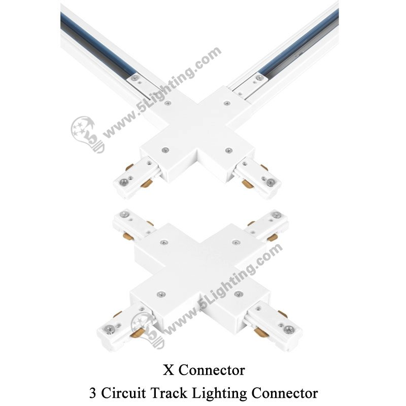 3 Circuit Track Lighting Connectors Three Wire Track