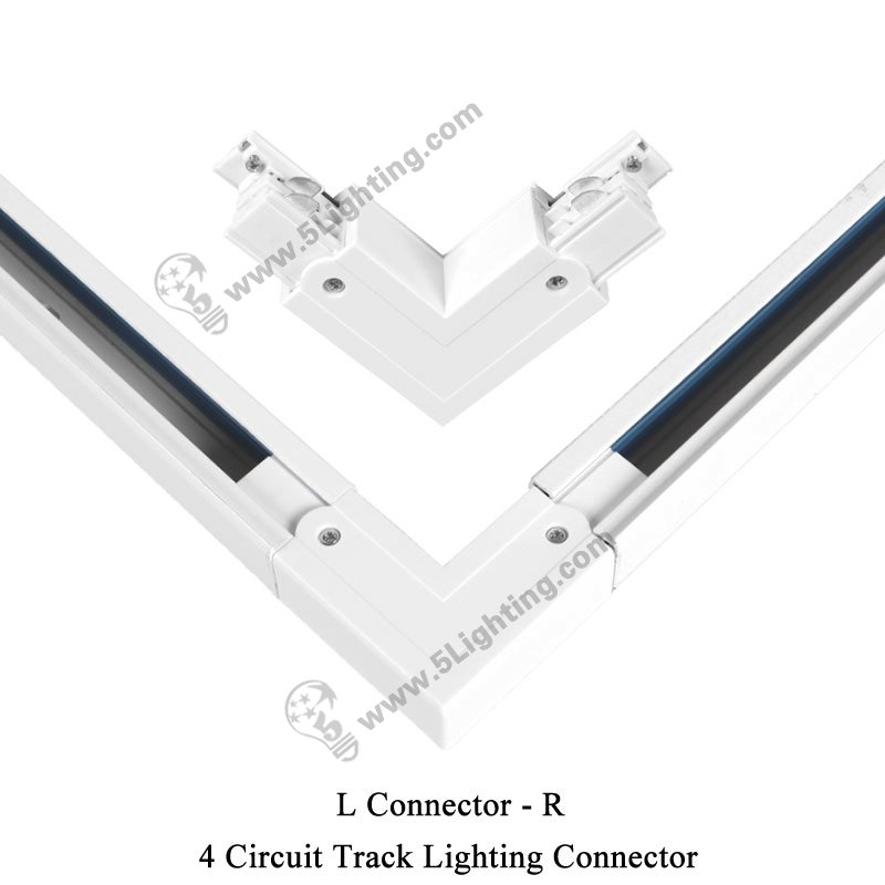 Different Types Of Track Lighting Fixtures To Install: 4 Circuit Track Lighting Connectors, Four Wire Track Light