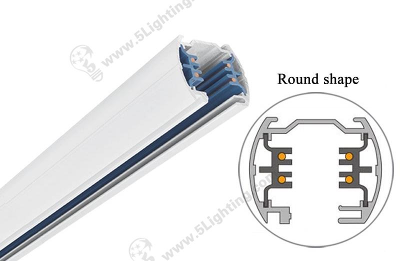 4 Circuit Track Lighting Parts – Round Shape - 1