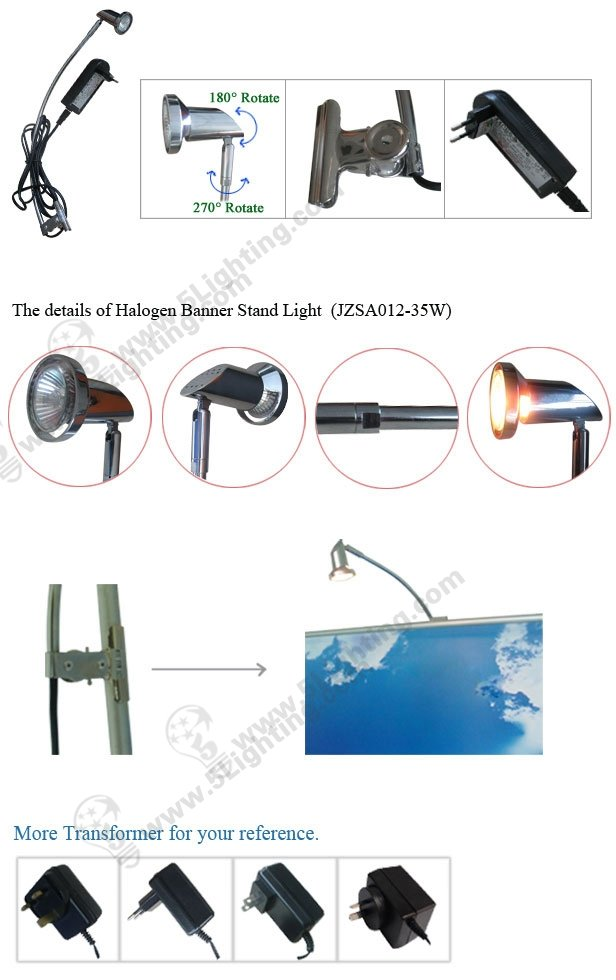 Fashionable design Banner / Roll up Stand spot lights