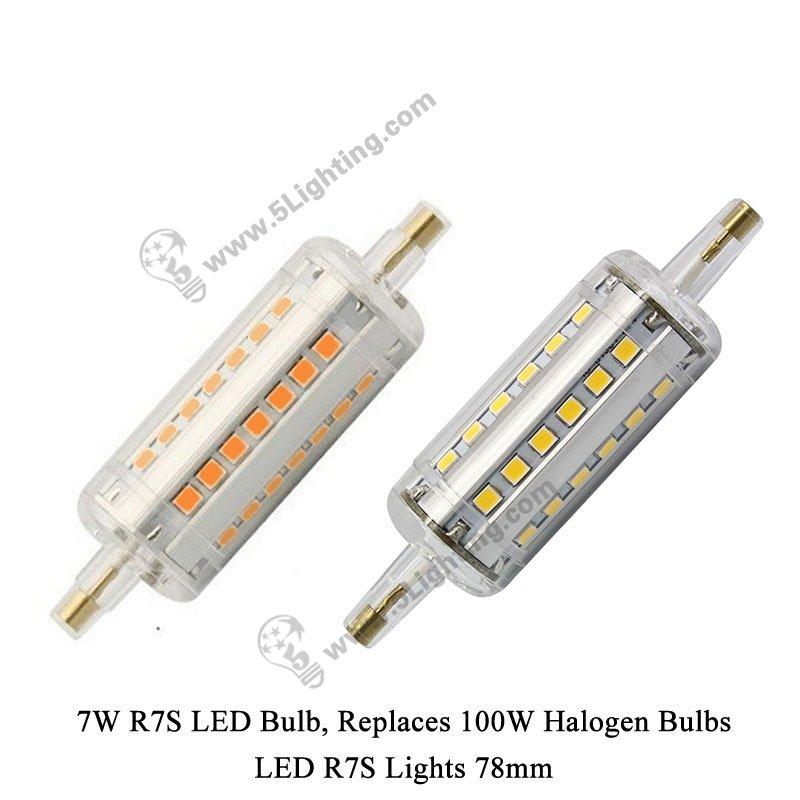 Led r7s lights 78 mm for 100 watts halogen r7s light bulbs for Led r7s 78mm osram