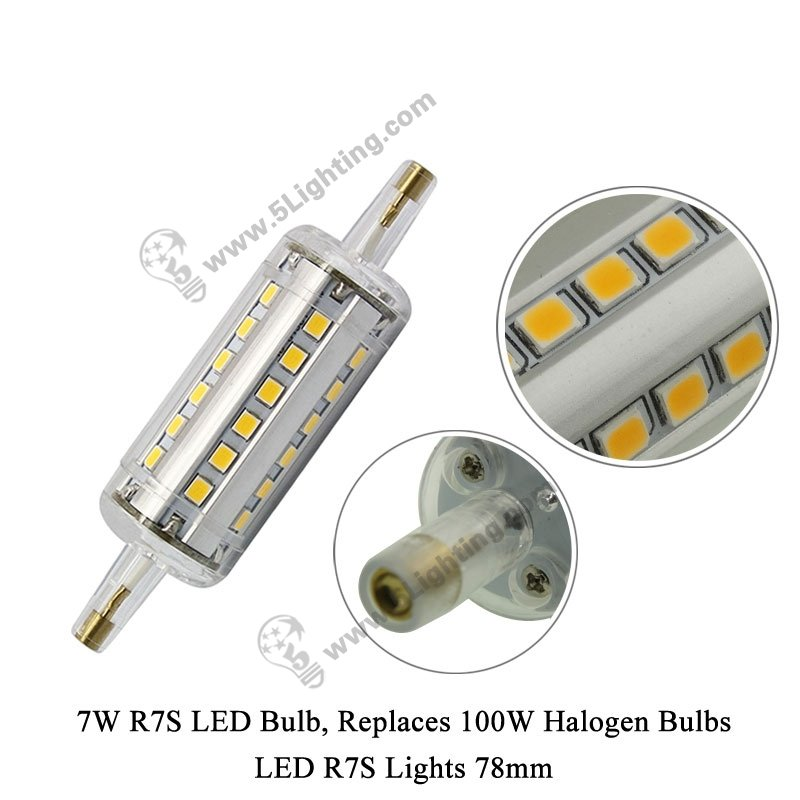 Led r7s lights 78 mm for 100 watts halogen r7s light bulbs for Lampadina r7s led 78mm
