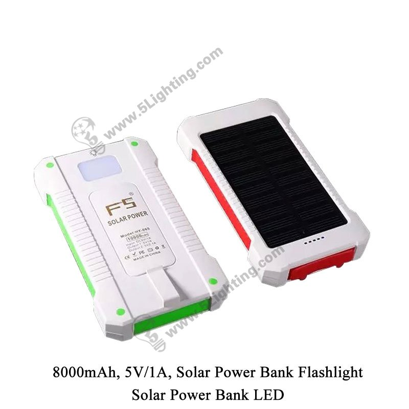 Solar Power Bank LED 5L-8000 - 1