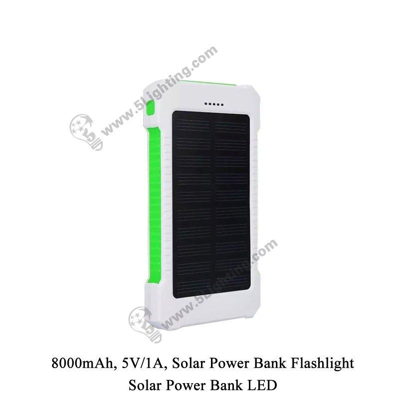 Solar Power Bank LED 5L-8000 - 2