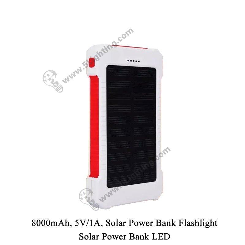 Solar Power Bank LED 5L-8000 - 4