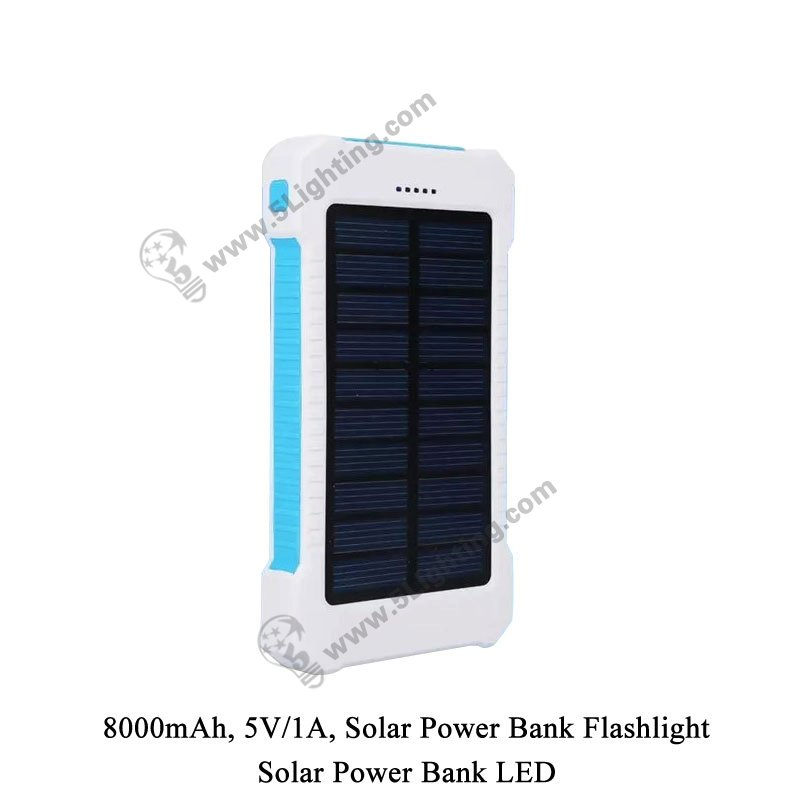 Solar Power Bank LED 5L-8000 - 5