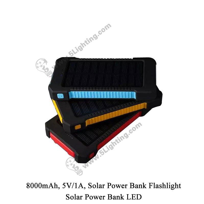 Solar Power Bank LED 5L-8000 - 6