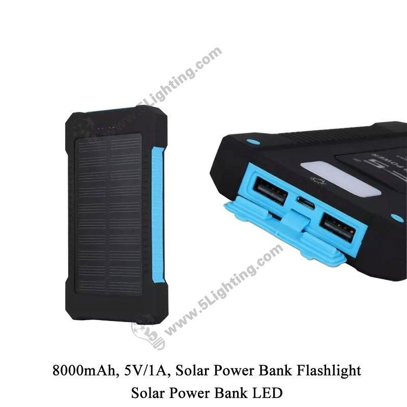 Solar Power Bank LED 5L-8000 - Detail