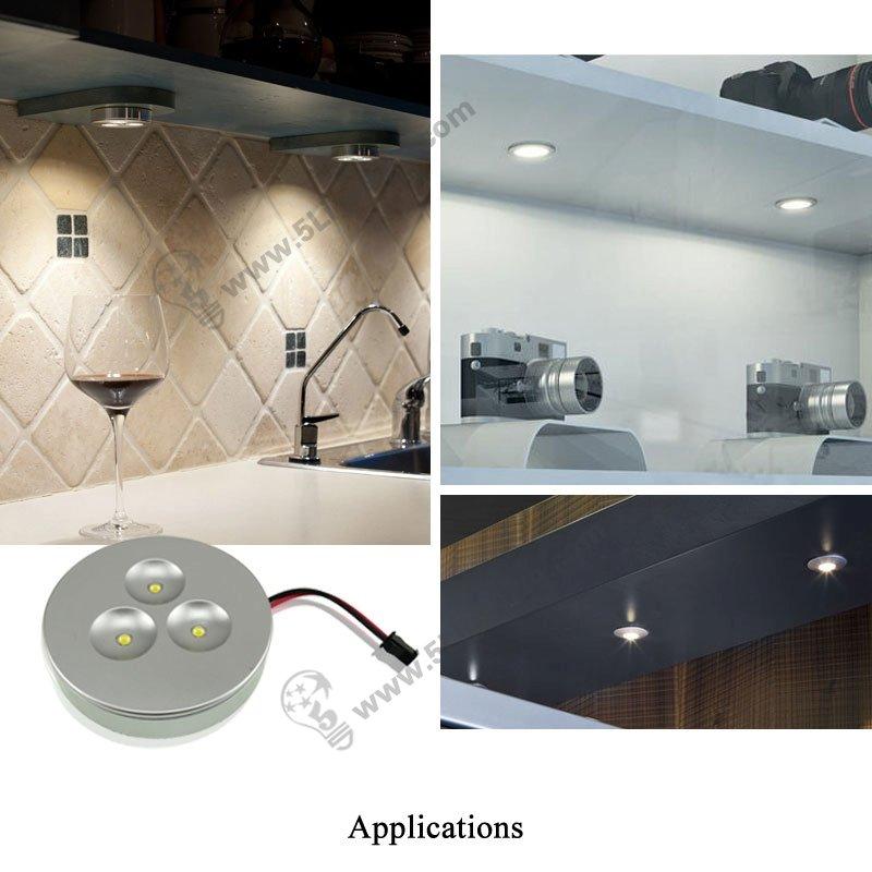 LED cabinet puck lights 3w, 12v under cabinet recessed led ...