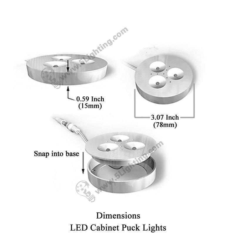 led cabinet puck lights 3w 12v under cabinet recessed led. Black Bedroom Furniture Sets. Home Design Ideas