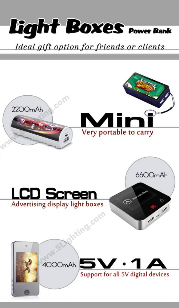 Light Boxes Power Bank