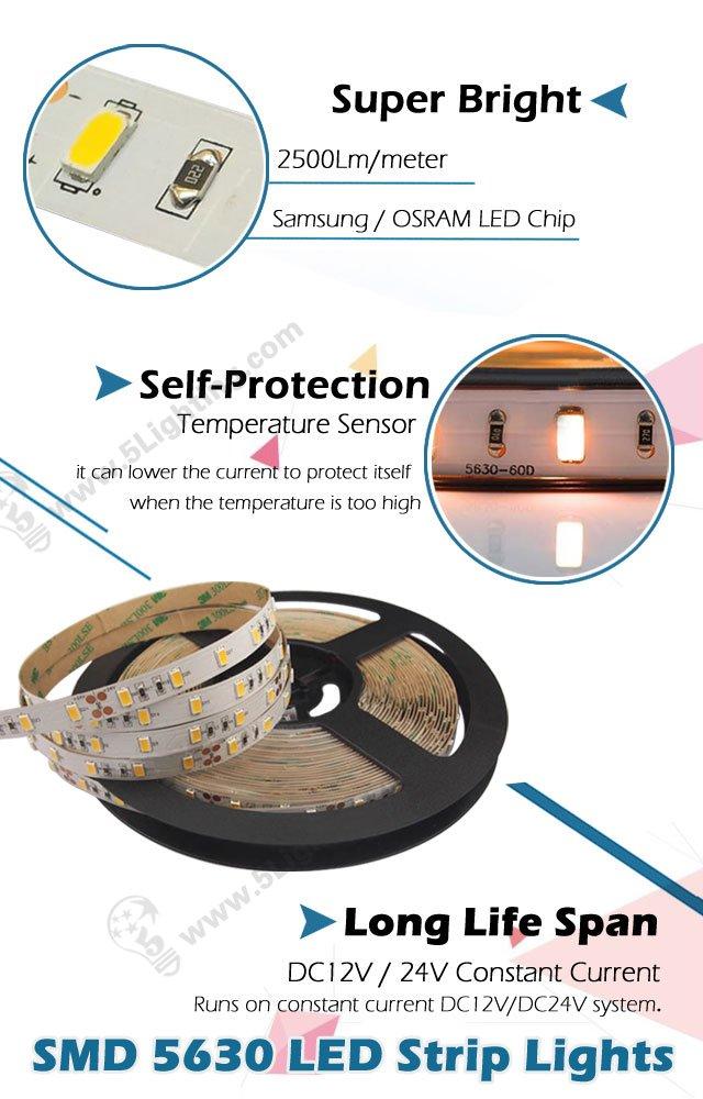 Temperature Sensor LED Strips - 5630