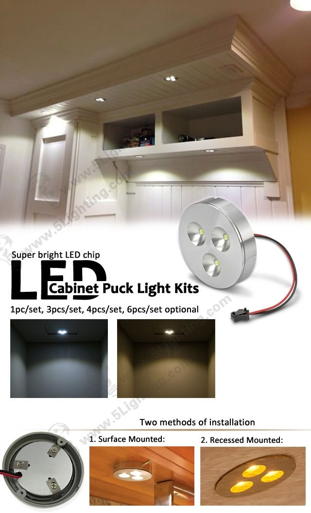 LED Cabinet Puck Light kits
