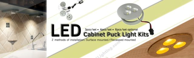 LED Cabinet Puck Lights Banner