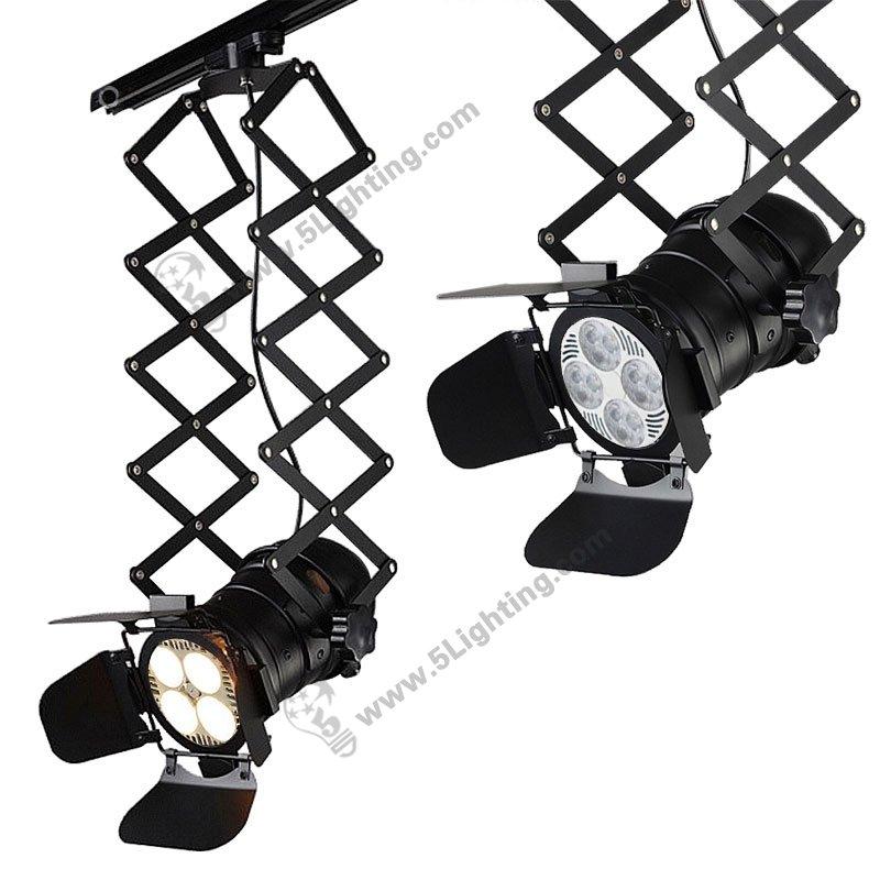 Ceiling Track Rail Lighting Accordion Pantograph