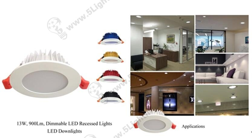 Dimmable LED Down Lighting.