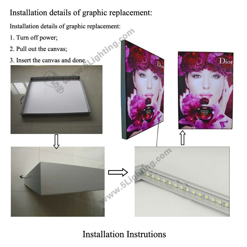Fabric Light Boxes Single-sided - 28mm - Installation Instructions