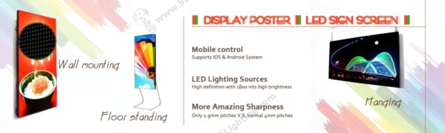 LED Sign Screen Display Poster Series