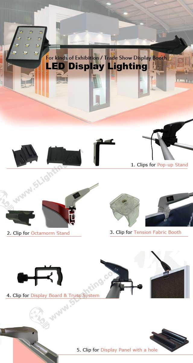 LXD12-002-A with kinds of special clamps for Exhibition Display Booth