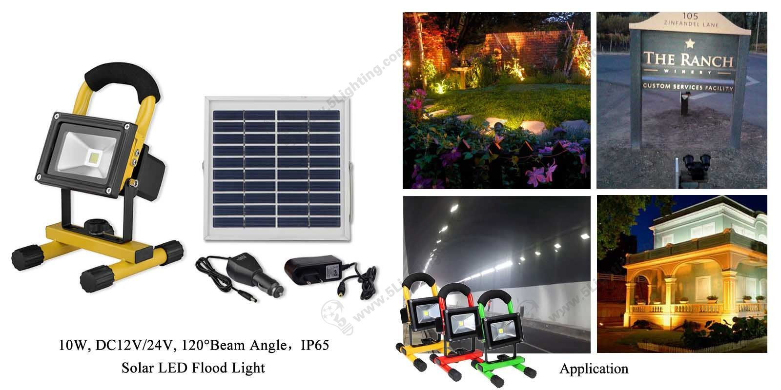 Solar LED Flood Light 10 watts outdoor lighting