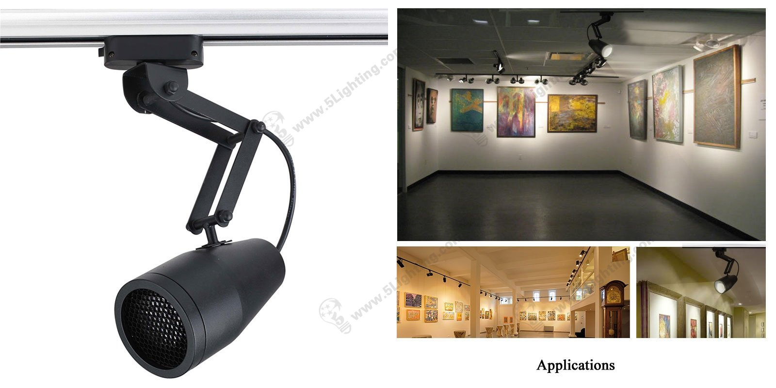 Retractable Track Lighting swing arm adjustable lighting