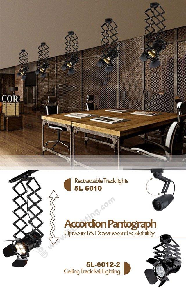 ceiling track rail lighting accordion
